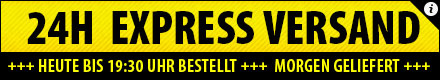 24H Express Versand bei Bestellungen bis 19:30 Uhr