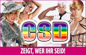 Schrille Kostüme und Accessoires für den CSD 2015