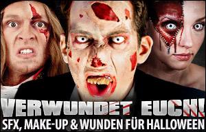Verwundet Euch! SFX, Make-up & Wunden für Halloween