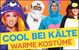 Cool bei Kälte: Warme Kostüme für den Straßenkarneval - Kostüme für draußen online kaufen