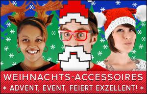 Accessoires für Weihnachten - Nikolausmütze, Weihnachtsmann Bart und andere festliche Accessoires online kaufen