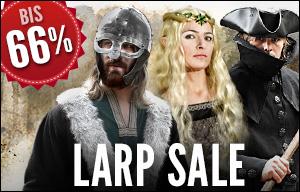 Role Play Convention 2016: LARP Sale - Kostüme, Gewandungen und Accessoires bis zu 66% reduziert!