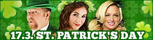 Grüne Kostüme und Accessoires für den St. Patrick's Day am 17. März