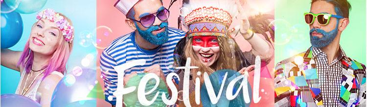 Festival Kostüm Shop: Festival Kostüme, Zubehör und Make-up für Musikfestivals