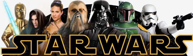 Original lizenzierte Star Wars Kostüme, Masken und Lichtschwerter