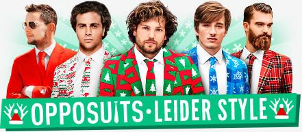 OppoSuits: ausgefallene Anzüge mit Hingucker-Garantie für coole Herren - auch als Faschingskostüm und für Weihnachtsfeiern geeignet!
