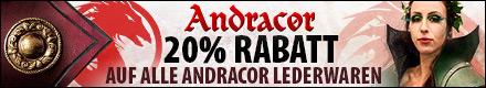 Bis Ende Juli 20% Rabatt auf alle Andracor Lederwaren!