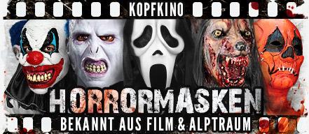 Horrormasken - bekannt aus Film & Alptraum