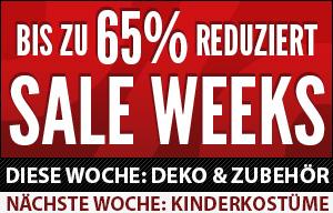 SALE WEEKS - bis zu 70% reduziert!