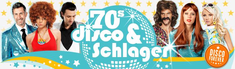 Perfekt als Karnevals- oder Faschingskostüm: 70s Disco & Schlager