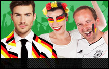Fanartikel zur Fußball EM 2016: Fanschals, Fanschminke, Trikots und Fan Kostüme rechtzeitig online kaufen