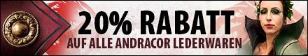 20% Rabatt auf alle Andracor Lederwaren bis zum 31.05.2016!