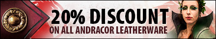 20% discount on all Andracor leatherware thru 17/07/2016!