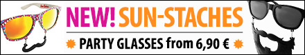 New! Buy Sun-staches Party Glasses from € 6,90