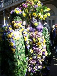 2e4a88328620f Photo  Elaborate flower costume in the traditional local Mardi Gras colors  of purple