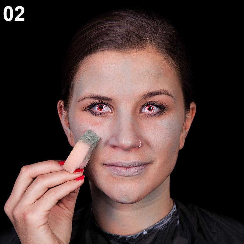 Schritt 2: Gesicht grundieren