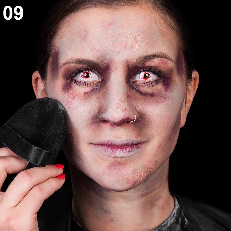 Schritt 9: Gesicht pudern
