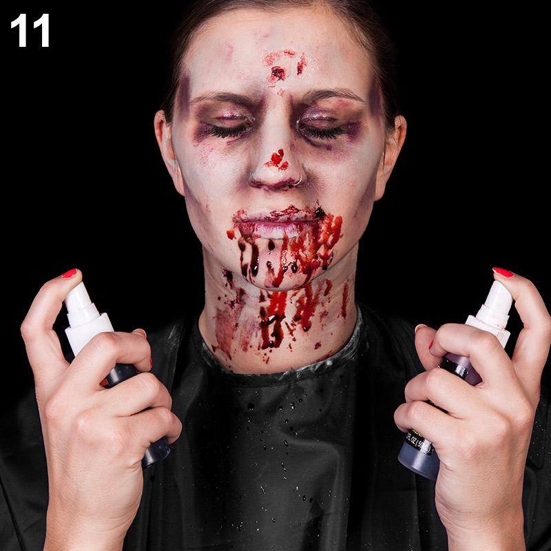 Schritt 11: Blutspray auftragen