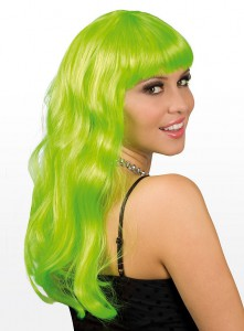 Long Hair Wig lime