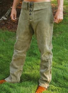Wildlederhose Grün