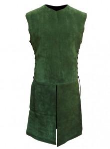 Waffenrock aus Leder grün