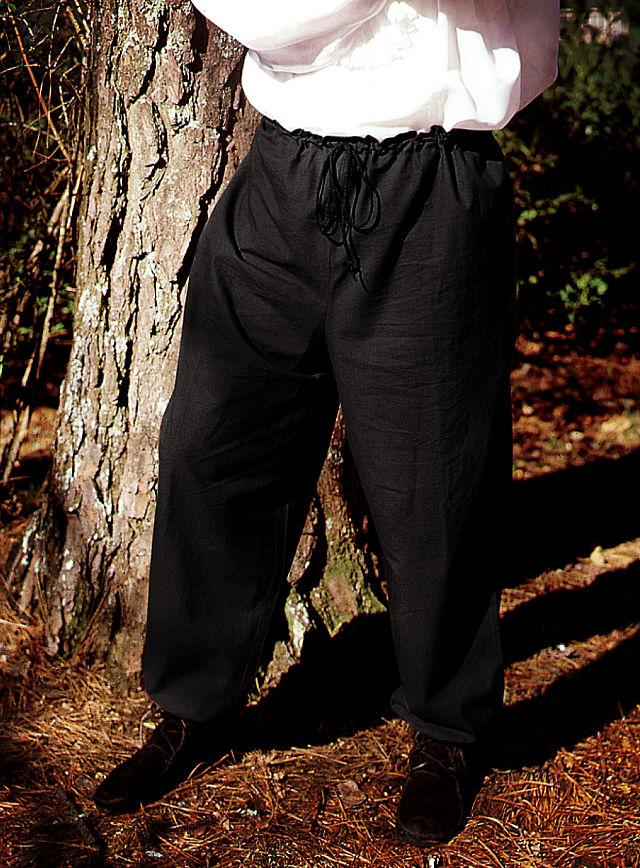 Mittelalterliche Hose schwarz