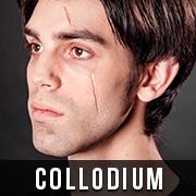 Halloween Narben schminken mit Collodium