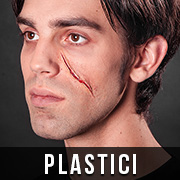 Halloween Narben schminken mit Plastici