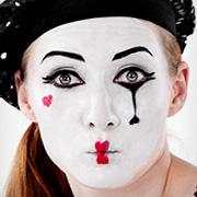 Pantomimen Schminktipp für Karneval und Fasching