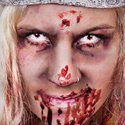 Höllisches Helau: Zombie-Funkenmariechen Schminktipp