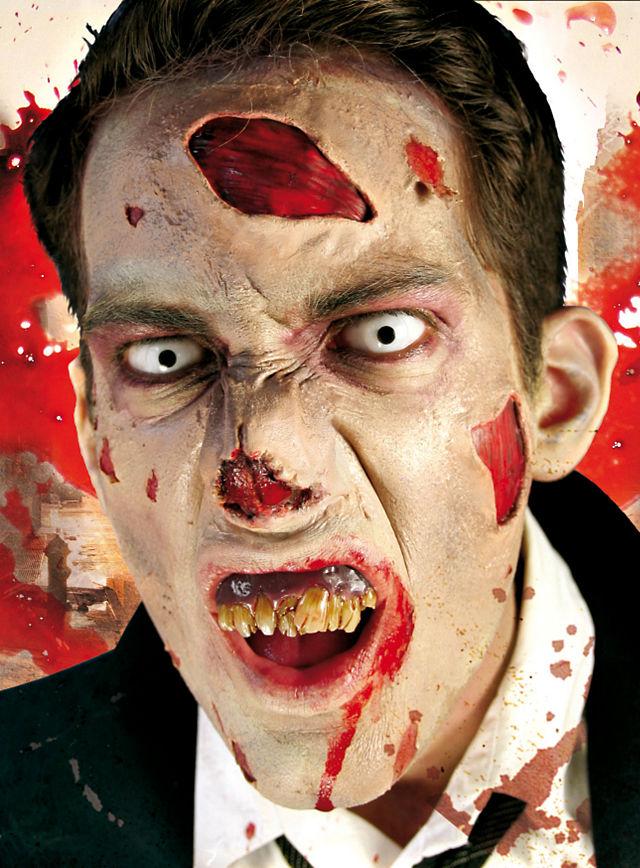 zombie gesicht schminken