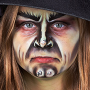 halloween kinderschminken hexe make-up