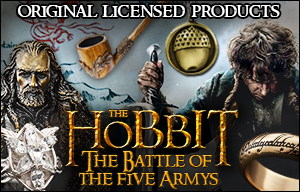 Original licensed The Hobbit costumes and collectibles