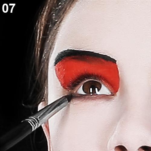 hetzkönigin schminken fasching make up