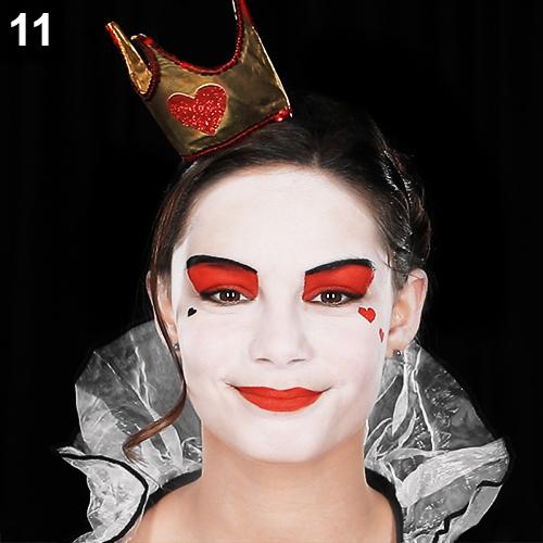 Herzkönigin schminken alice im wunderland make up