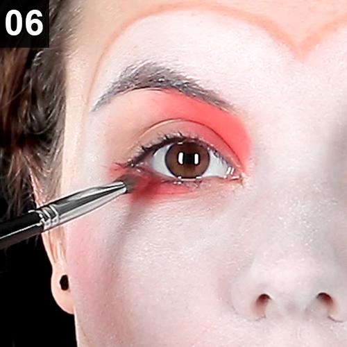 Clwon Gesicht schminken für Karneval, Fasching Fasnacht