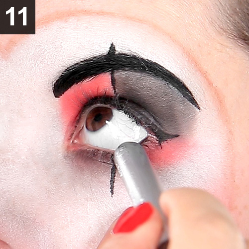 Clown Make Up schminken zu Fasching, Halloween, Karneval