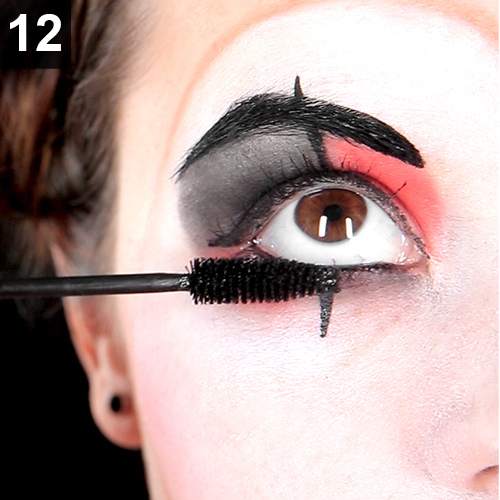 Augen make up Clown harlekin karneval fasching
