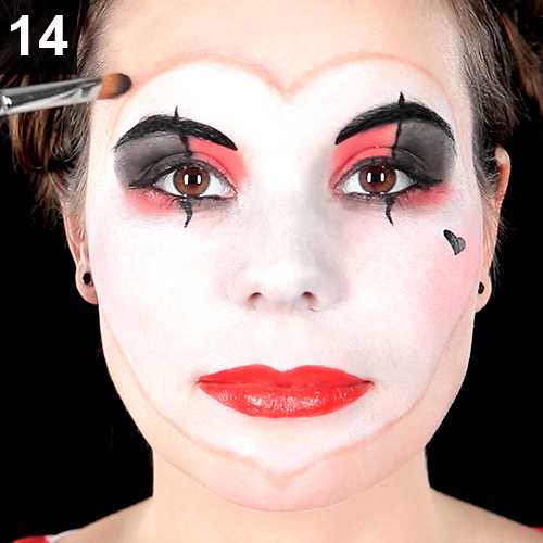 fasching schminktipp anleitung clown make up
