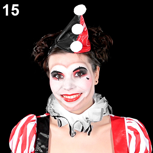 Harlekina make up clown schminken