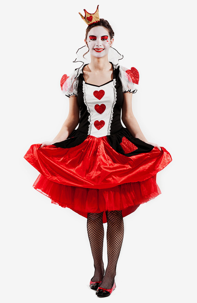 Karneval Schminkanleitung Herz-Königin Make Up