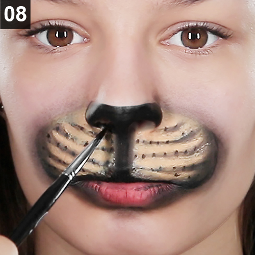 Faschings-Make Up Katze