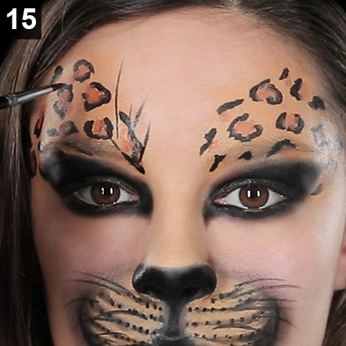 wildkatzen make up katze schminken
