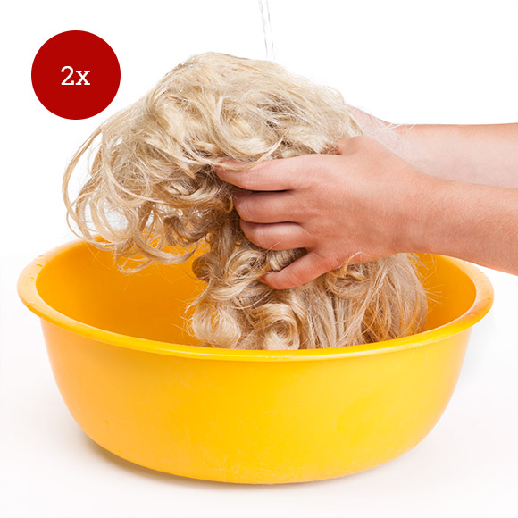 Perücken waschen: Schritt 4