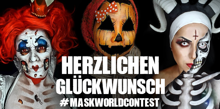 Gewinner des Halloween Make-up Contests auf Instagram