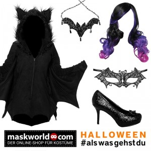 Freche Fledermaus Set