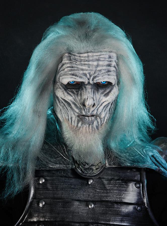 Halloween Make-up Tutorial Weißer Wanderer