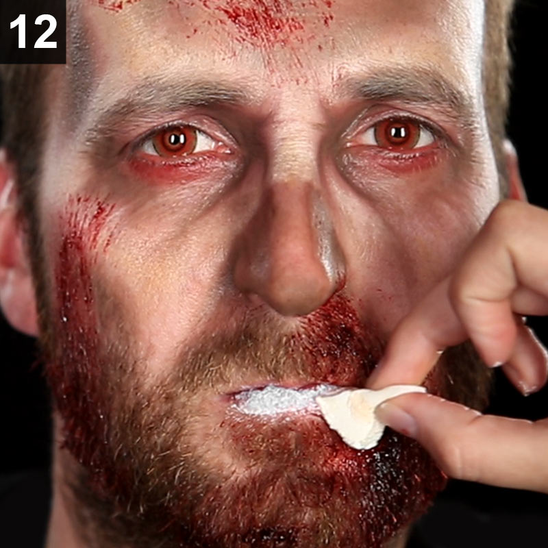 Make-up Anleitung Zombie