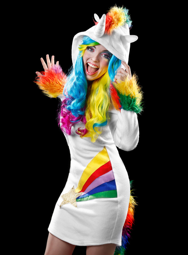 Karnevalstrend 2016 Einhorn Kostum Und Regenbogen Farben