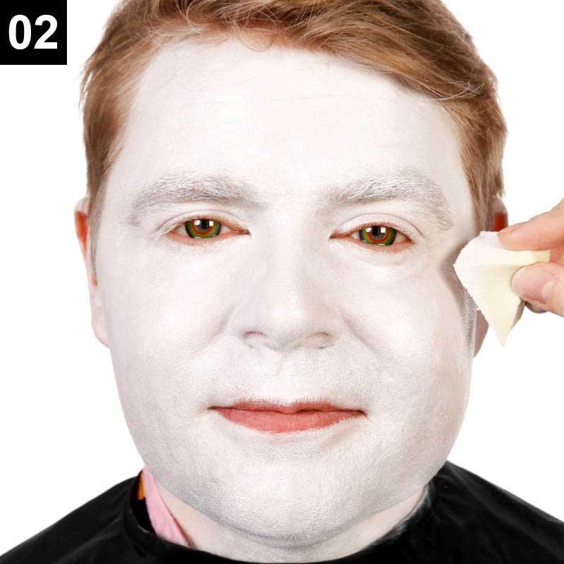 Make-up Verrückter Hutmacher Schritt 2